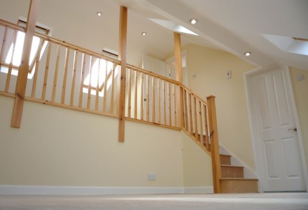 Modern staircase design by MPK Lofts Conversion and Construction