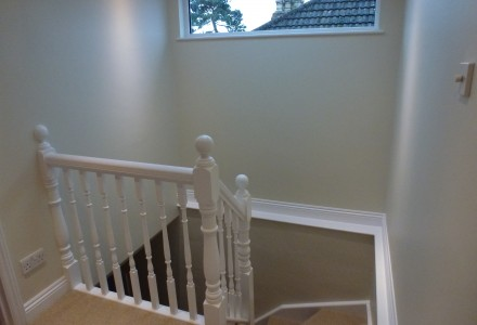 White stair case design by MPK
