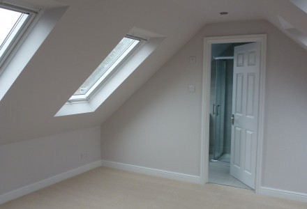 Bedroom with Velux Windows