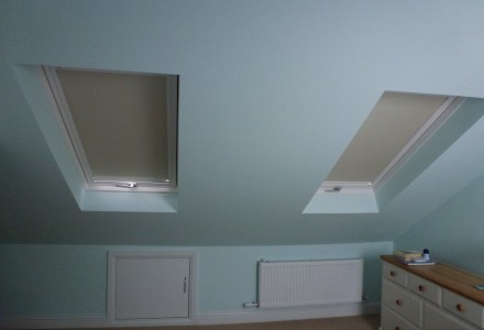 Velux Windows with Blackout Blinds