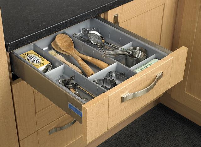drawer dividers as storage hacks
