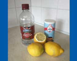 Bicarb, vinegar, lemons can be used to clean your home