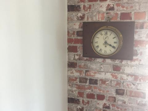 Bricks wall clock