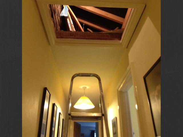 Loft conversion ladder attic loft space