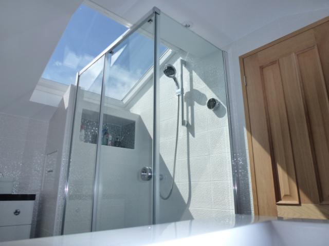 Shower loft conversion bathroom ensuite