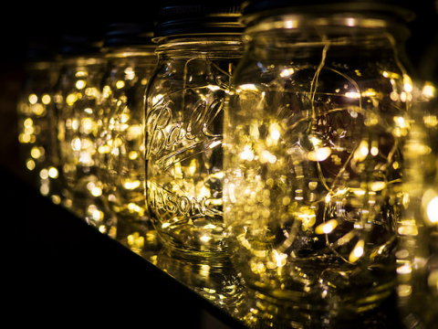 Add a stylish touch to your guest room by adding fairy lights