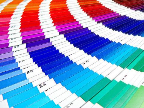 Colour pallets by Pantone