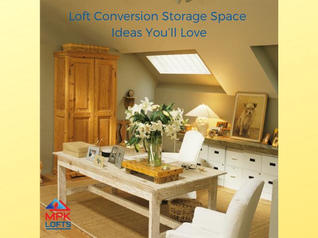 Loft conversion storage MPK Lofts cupboard drawers dining table