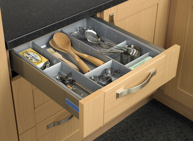 drawer dividers as storage hacks