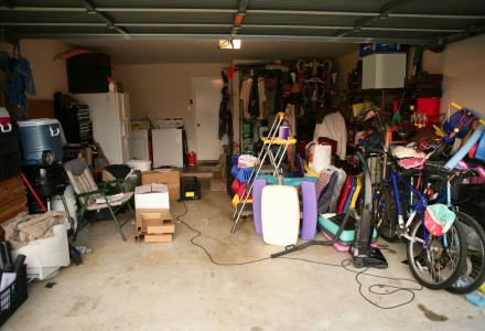 A messy, misused garage
