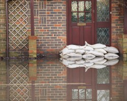 Sandbags can deter low lying water.