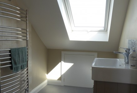 en-suite with Velux