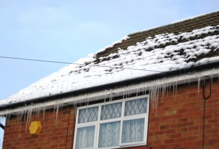 Ice dam can be a sign of poor insulation.