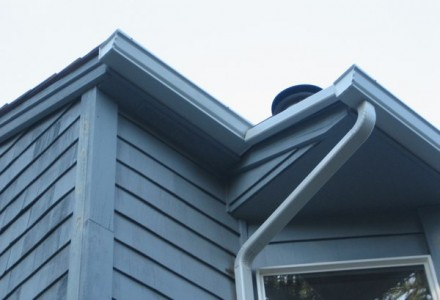 gutters on house roof