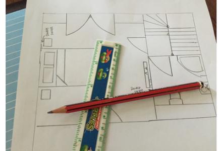 2D plan of loft or garage conversion