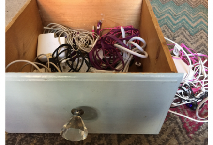 Stay tidy and organised with a charging drawer