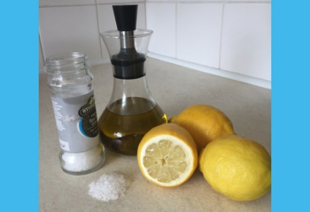Olive oil, salt and lemons can all be used to clean your home