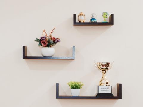 Floating shelves home decor