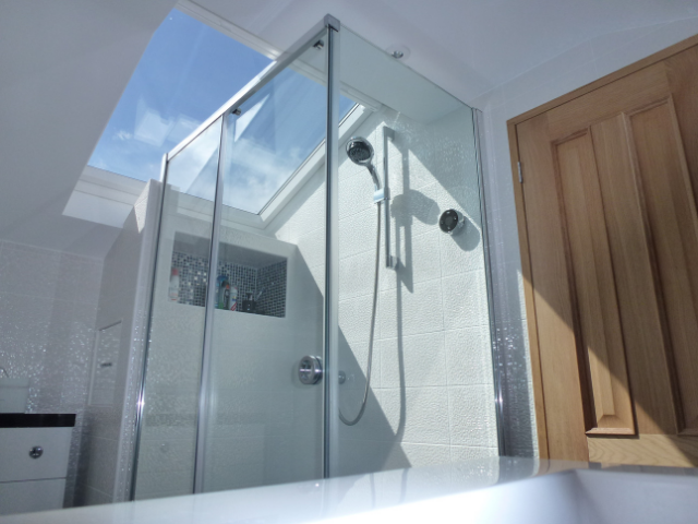 Shower loft conversion bathroom ensuite