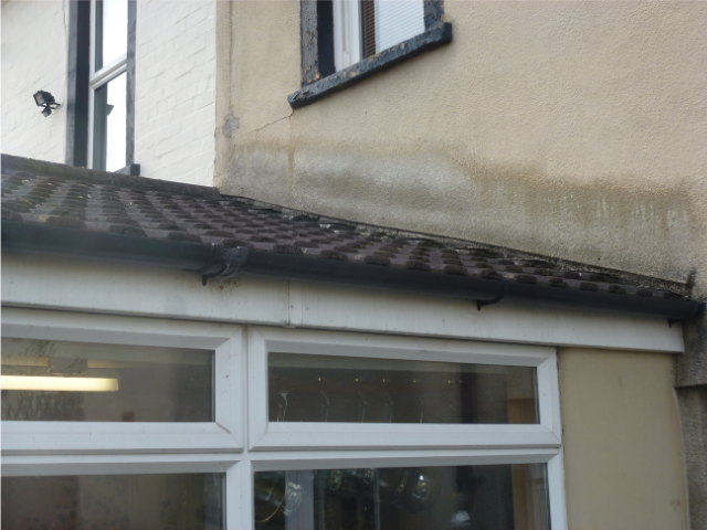 Gutters should be thoroughly cleaned