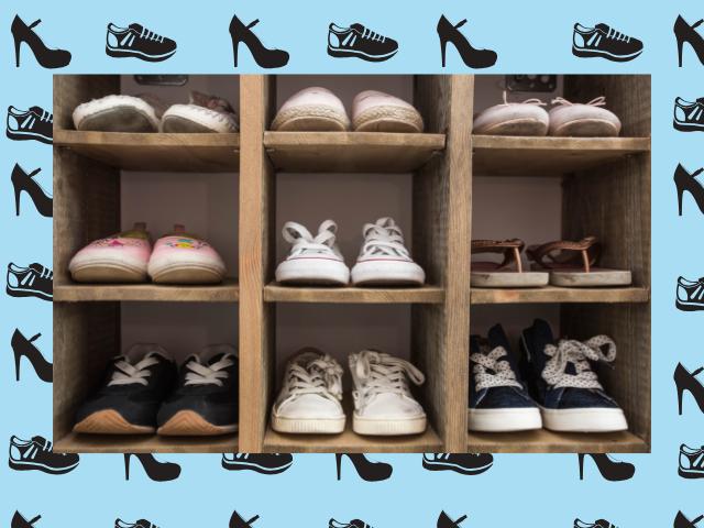 Loft shoe storage