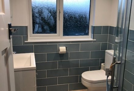 bathroom for Side gable up, rear flat roof dormer loft conversion
